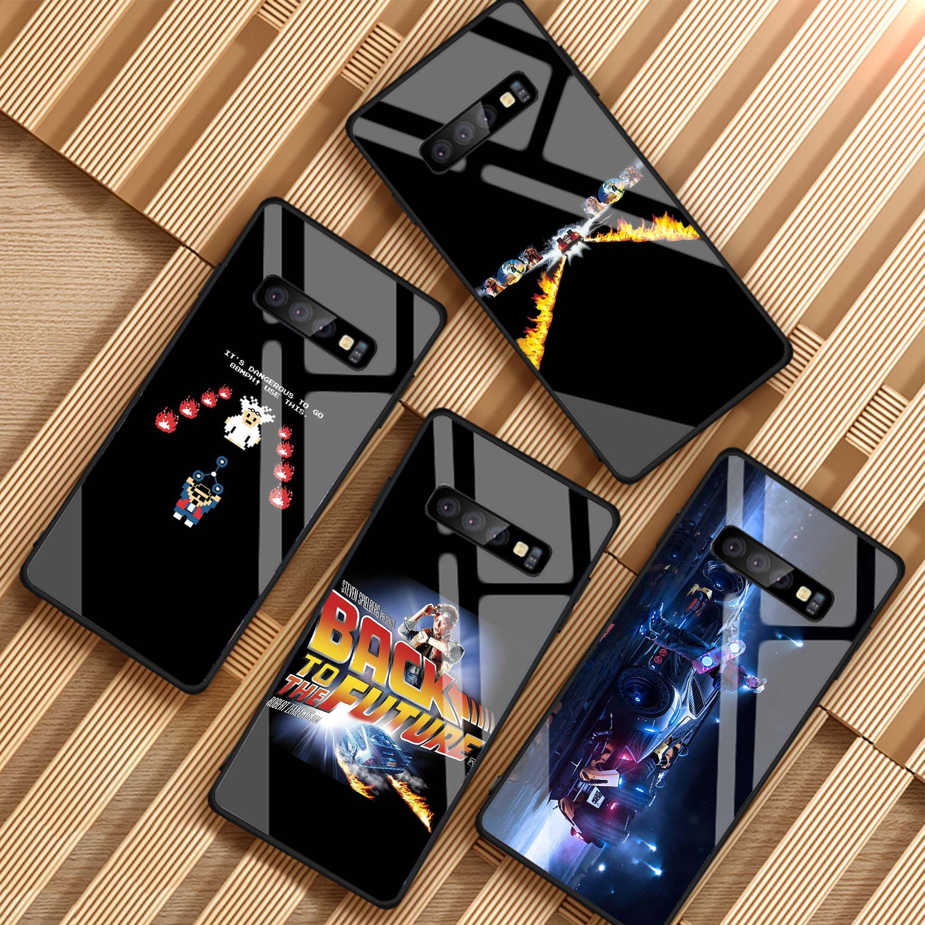Para el futuro de templado de vidrio de caso de teléfono para Samsung Galaxy A6 A6S A8 J6 J8 2018 Nota 8 9 S8 S9 S10 PLUS