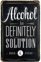 definitely solution retro metal tin sign plaque poster wall decor art shabby chic gift