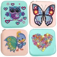 diy 5d mosaic rhinestone jewelry storage box special shape diamond resin painting kit jewelry organize case holder gifts