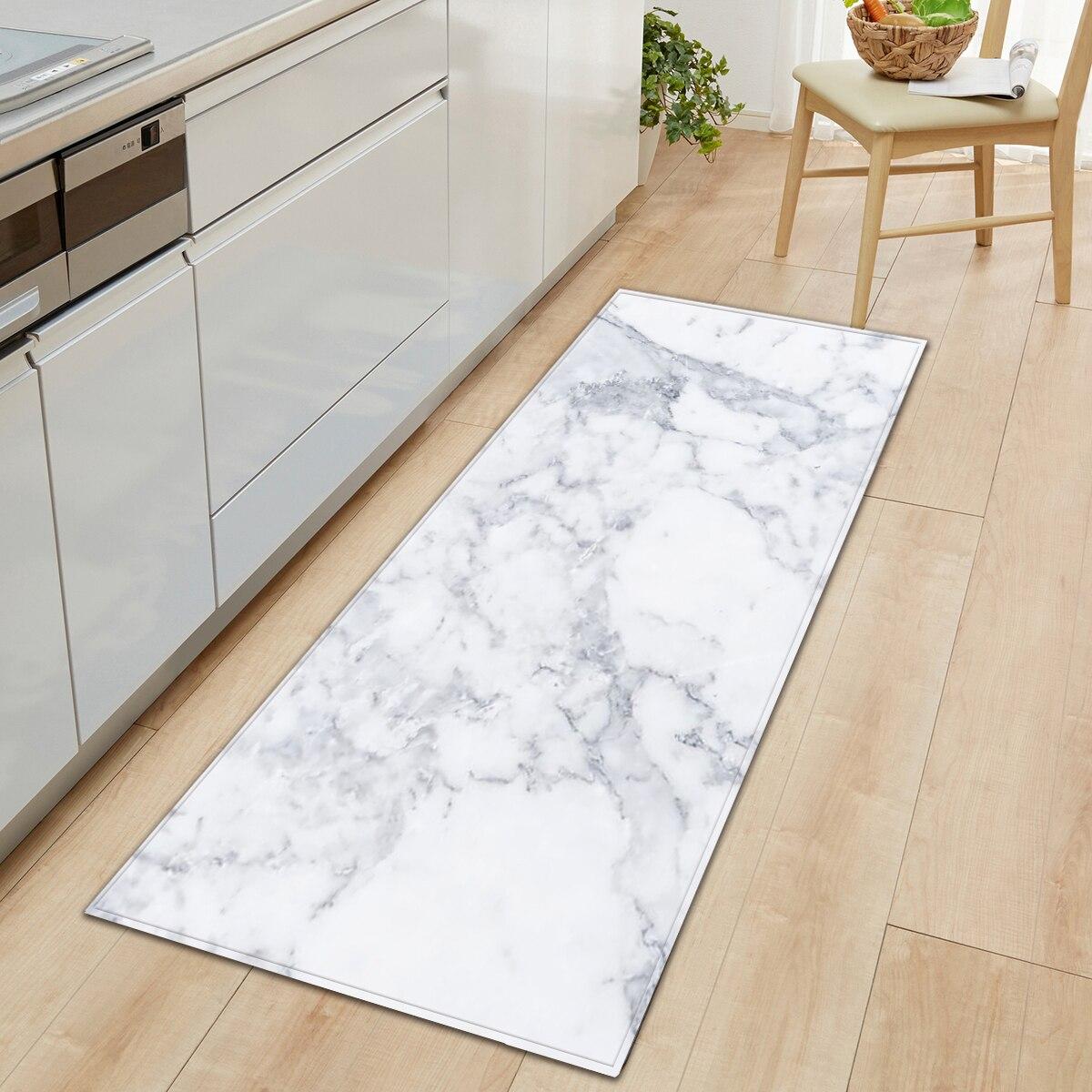 Alfombrilla de suelo con estampado de mármol, alfombrillas antideslizantes para la cocina de los salones, alfombrillas para la puerta, decoración de entrada, alfombra