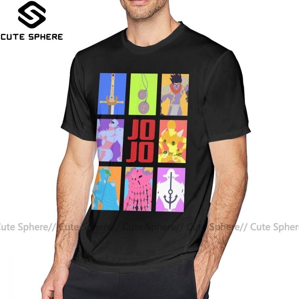 Camiseta Jojo Bizarre Adventure JoJo S Bizarre Adventure, camiseta con armas y Stands para hombre, camiseta 100 de algodón