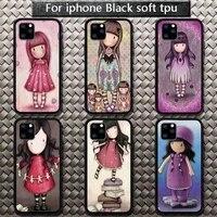 santoro gorjuss cute cartoon girl phone case for iphone etui 11 12 pro se 20 max xr xs x 7 8 6s plus mini fundas coque cover
