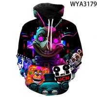 2021 new 3d printed fnaf hoodies boy girl kids pullover hooded casual men women children sweatshirts pullover streetwear fashion