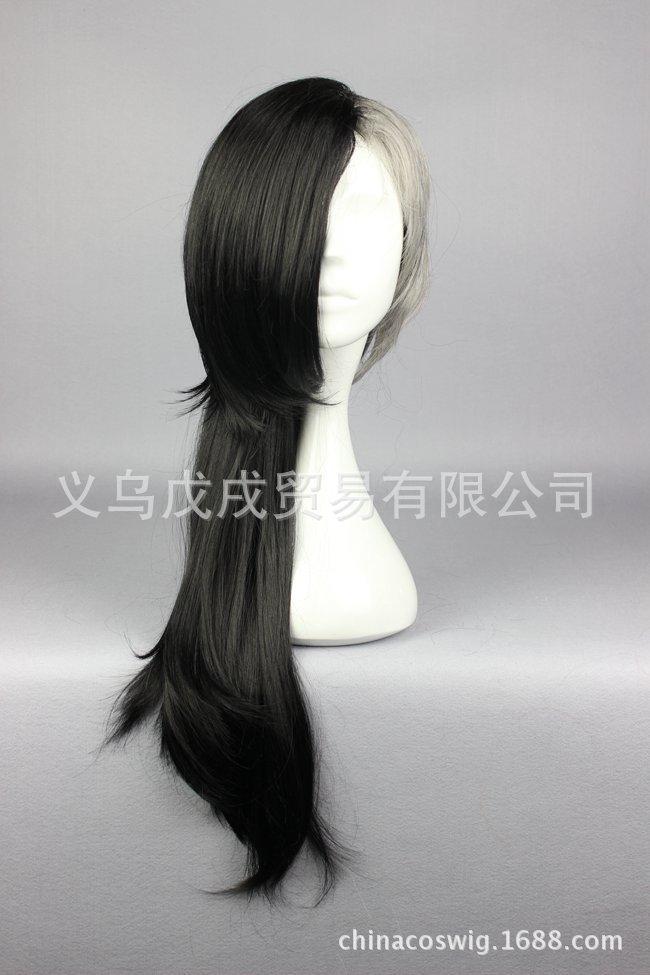 Tokyo Ghoul peluca femenina Cos máscara fabricante Uta peluca corta negro y gris plata Anime Halloween pelucas Cosplay