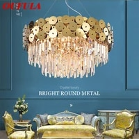 oufula crystal chandelier lamp luxury gold led fixtures modern creative decorative for living room dining room villa duplex