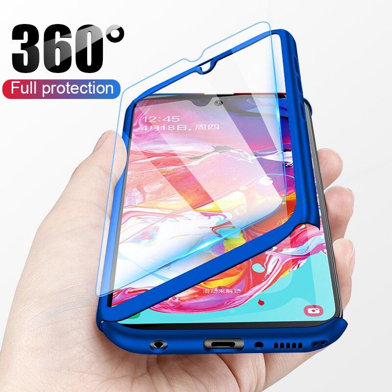 Funda protectora de lujo de cristal de cobertura completa 360 para Nokia 3,1 funda protectora para Nokia 6,1 Con Cubierta trasera de vidrio templado