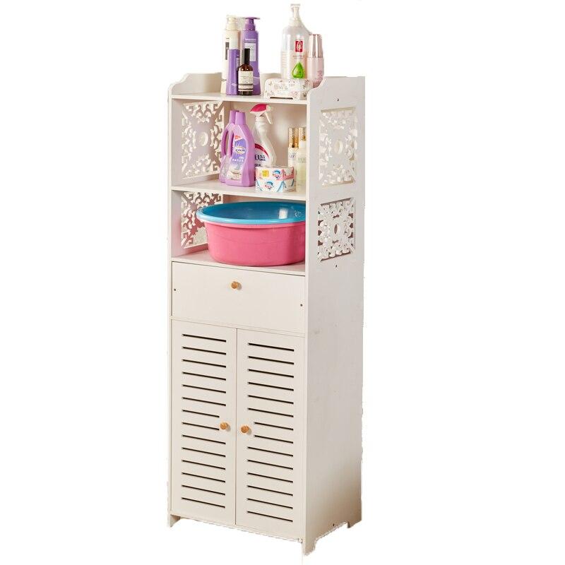 رف قائم على الأرض للحمام ، للمراحيض ، متعدد الطبقات ، خزانة تخزين ، رف تخزين