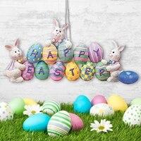 Decorations de paques  lapin  oeufs de paques  Art deco suspendu pour la maison  25