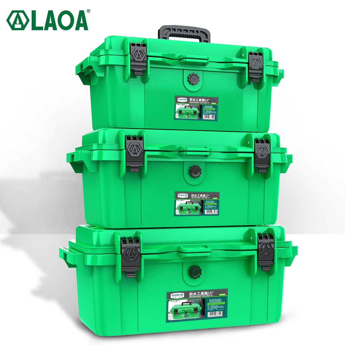LAOA Thickened Waterproof Toolbox Storage Box Set Vehicle Maintenance Electrician Household Portable Industrial Grade Toolsbox