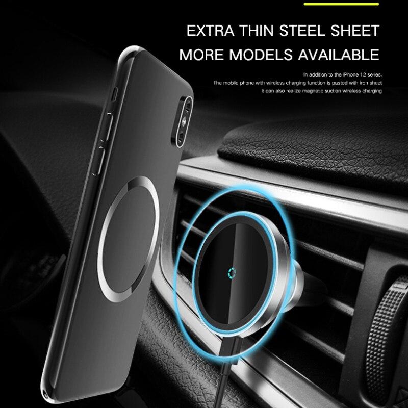 Suporte do Telefone do Carro sem Fio Carregador de Montagem Carro para Ventilação de ar Suporte de Carregador de Carro sem Fio para Iphone12 Xiaomi 15w Pro