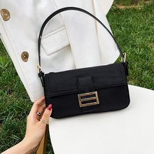 Bolsos de hombro con solapa Retro para mujer 2020, bolso Hobo clásico, pequeño bolso de nailon, Mini bolso para mujer y bandolera de mujer