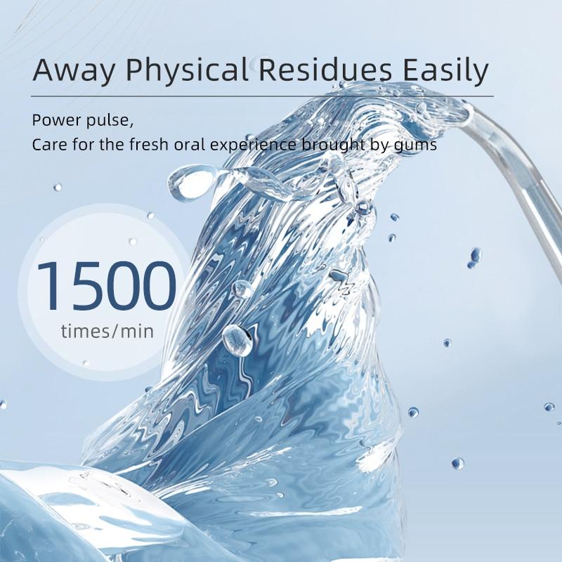 2021 De nieuwe Usb Oplaadbare Water Flosser Monddouche Dental 3 Modes 200Ml Water Tank Water Jet Waterdichte enlarge