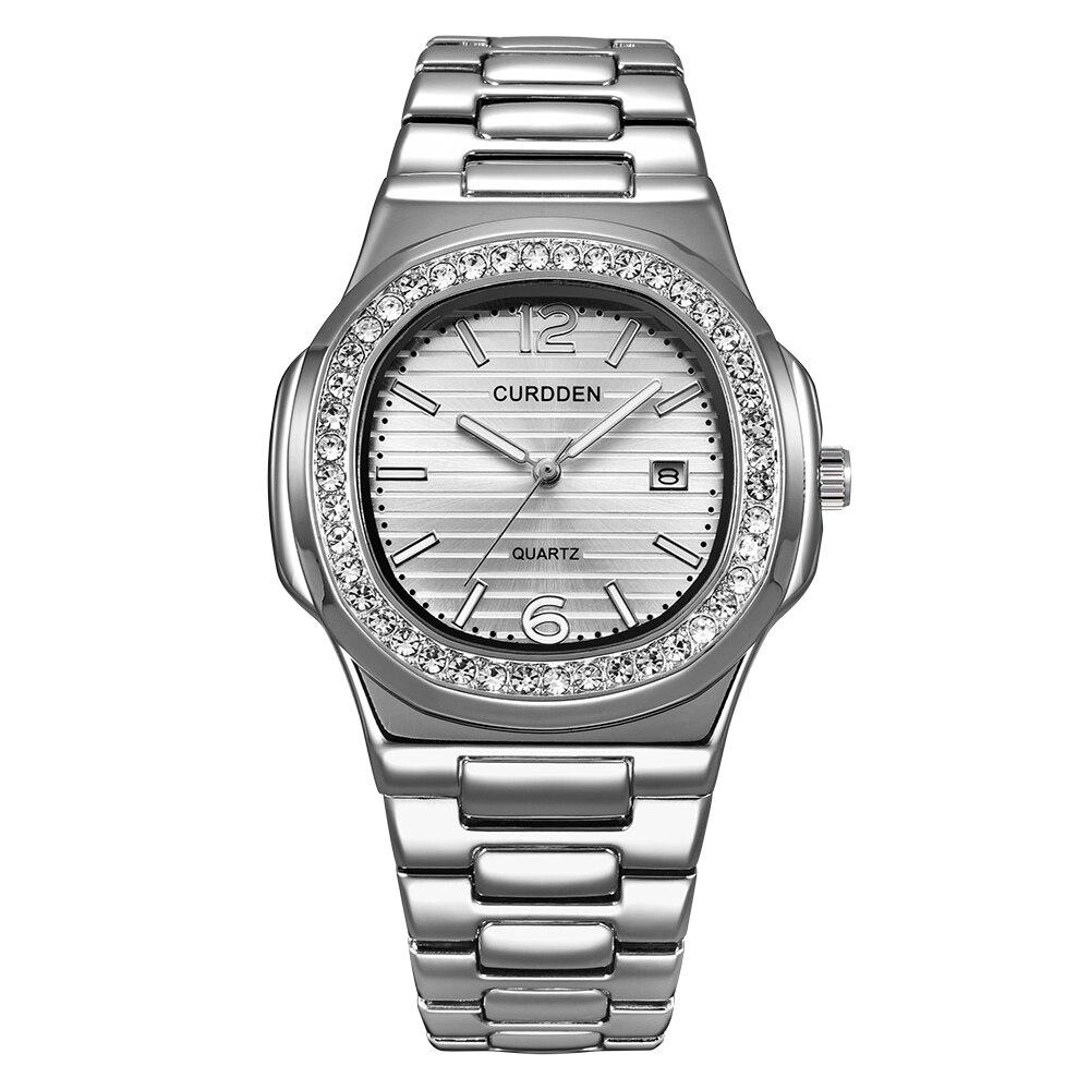 Famous Big Brand Luxury Watches Men Alloy Gold Diamond Business Quartz Wristwatches Men Calendar Clock Montres de Marque de Luxe