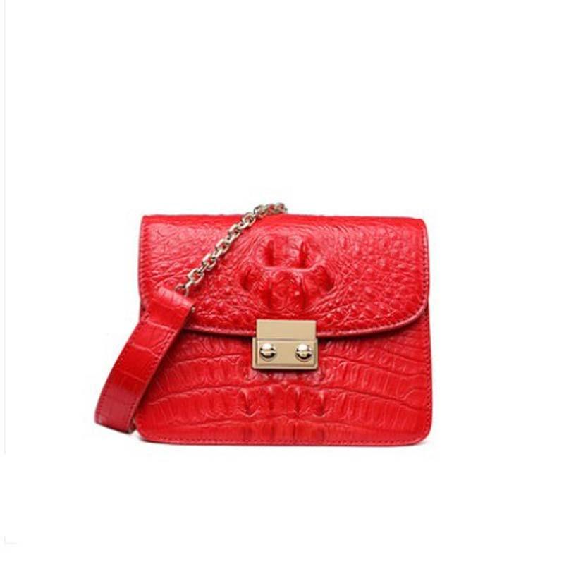 Moben-حقيبة يد نسائية من جلد التمساح ، حقيبة بسلسلة ، حقيبة حمل بغطاء