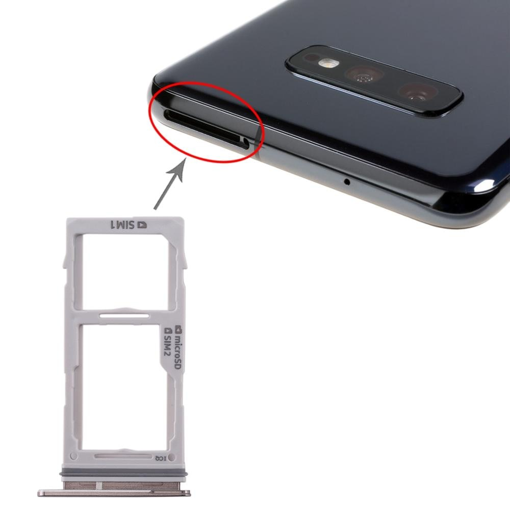 Bandeja de tarjeta SIM + bandeja de tarjeta SIM/bandeja de tarjetas Micro SD para Galaxy S10 +/S10/S10e