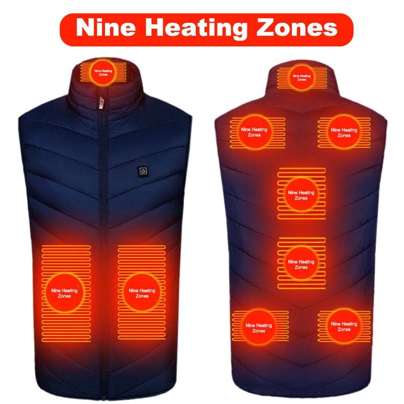 Chaleco calefactor con USB para hombre y mujer, chaleco calefactor eléctrico con...