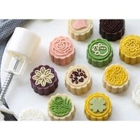 y1uu 8pcs hand press cookie stamp moon cake decor mould barrel mooncake mold 25g pastry diy tool mid autumn festival