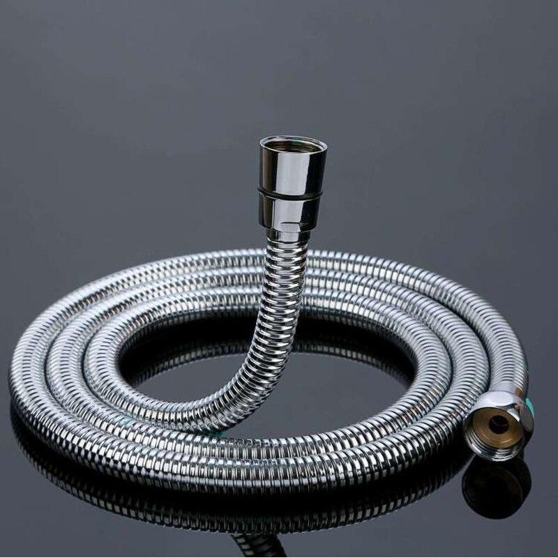Dofaso g1/2 mangueira de chuveiro de aço inoxidável anti-explosão flexível macio mangueira de tubulação de água do banheiro acessórios da sala de chuveiro