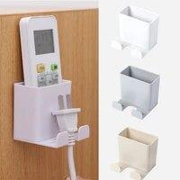 Support mural de recharge pour telephone portable  multi-fonction  adhesif  Durable  stockage de prises  stockage de telecommandes