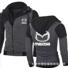 NEW Spring Autumn Fashion for Sweatshirt Casual Jacket Double Zipper Hoodie Cotton Mazda Sweatshirts