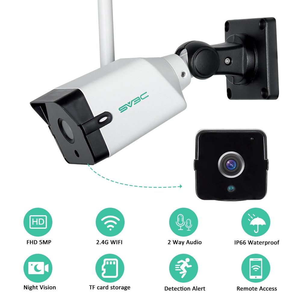 Cámara de seguridad IP de 5MP para exteriores, dispositivo de vigilancia inalámbrico...