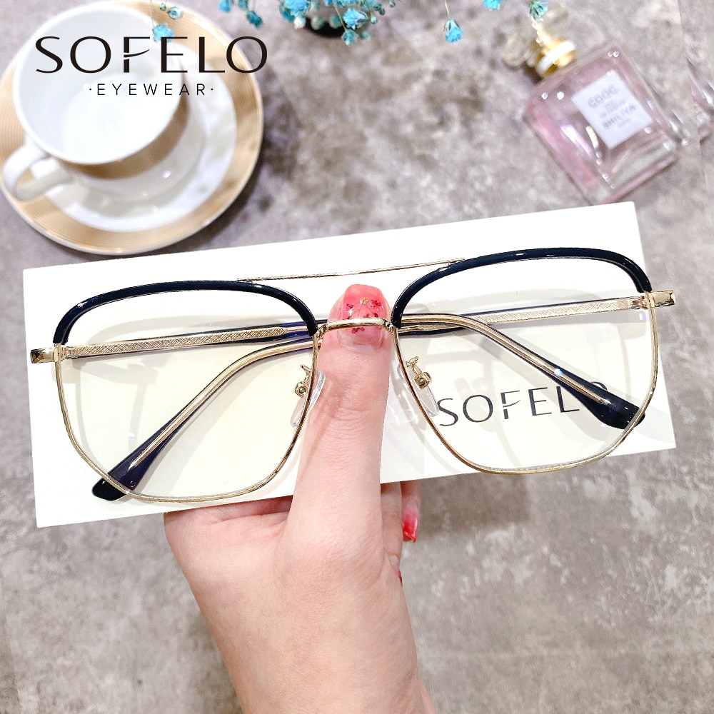 Korea Progressive Prescription Glasses Men Optical Multifocal Eyeglasses Women Brand Custom Bifocal
