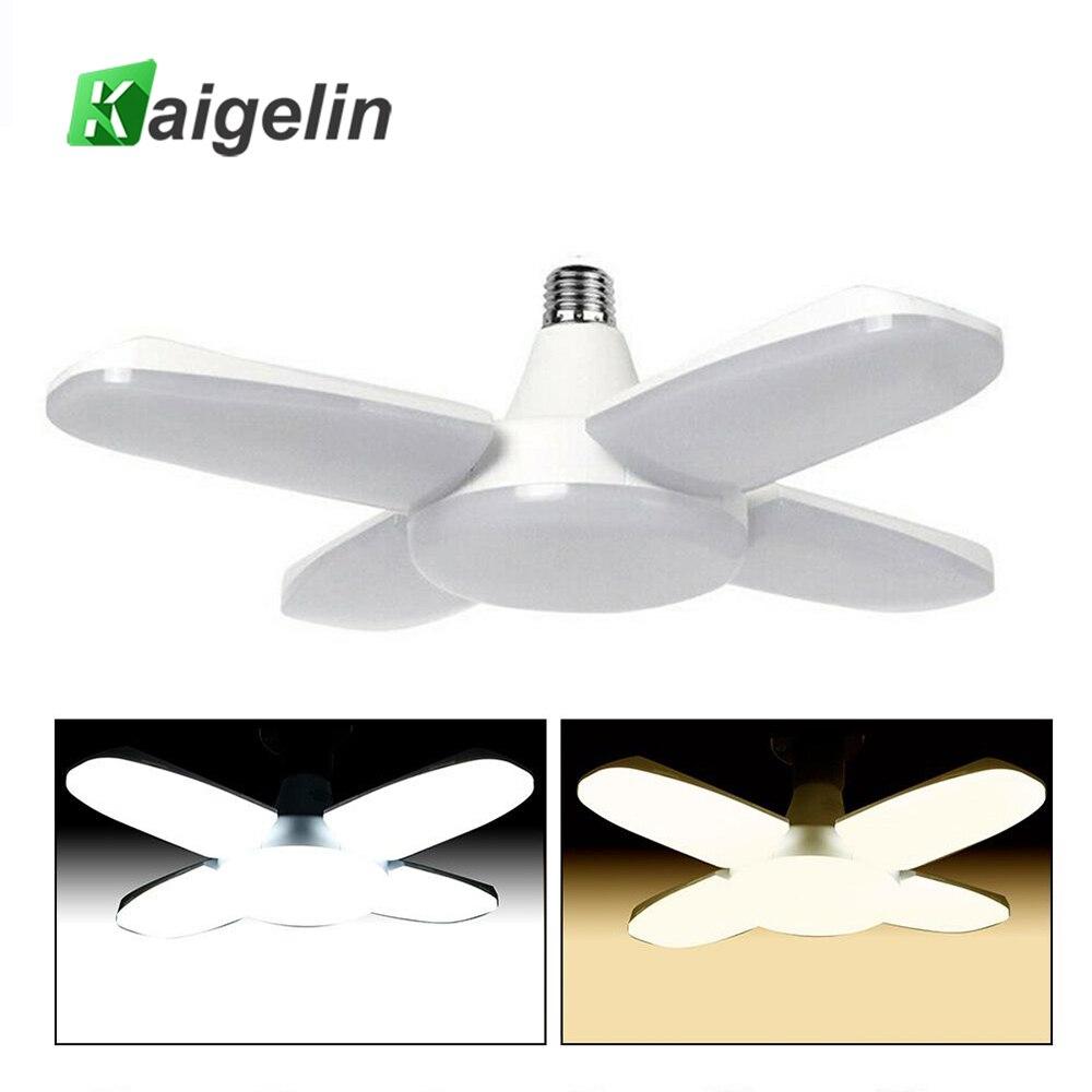 AC85-265V 80W 8000lm LED Ceiling Lamp Super Bright E27/E26 Fan Blade LED Lights Folding for Garage Home Office Ceiling Lighting