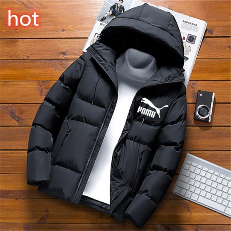 Heißer-verkauf marke herren winter mäntel in 2020 mode einfarbig mit kapuze mantel winddicht warm dicken mantel winter parkes mantel