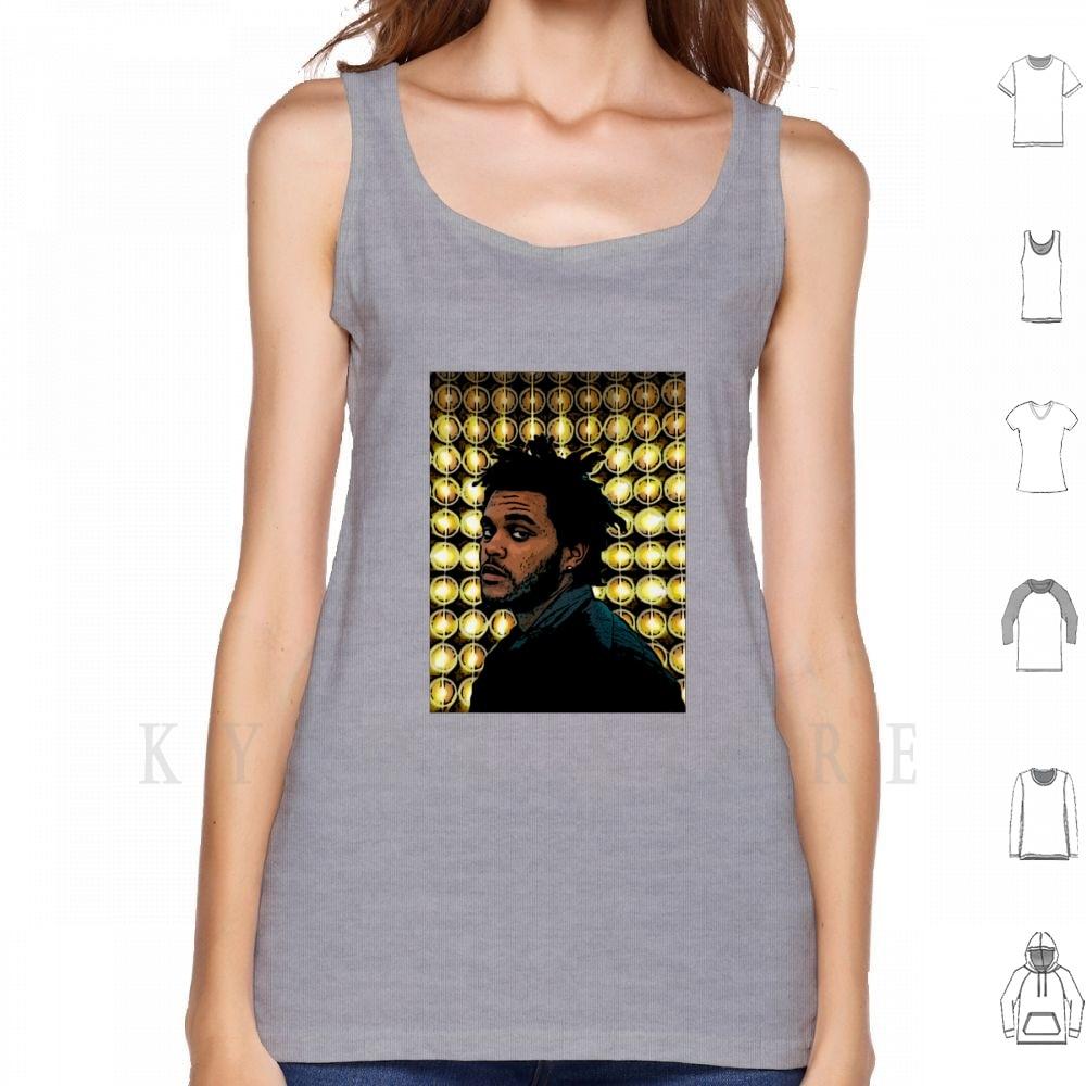 Camisetas sin mangas de cómic con luces cegadoras, Chaleco de Weeknd Tour...