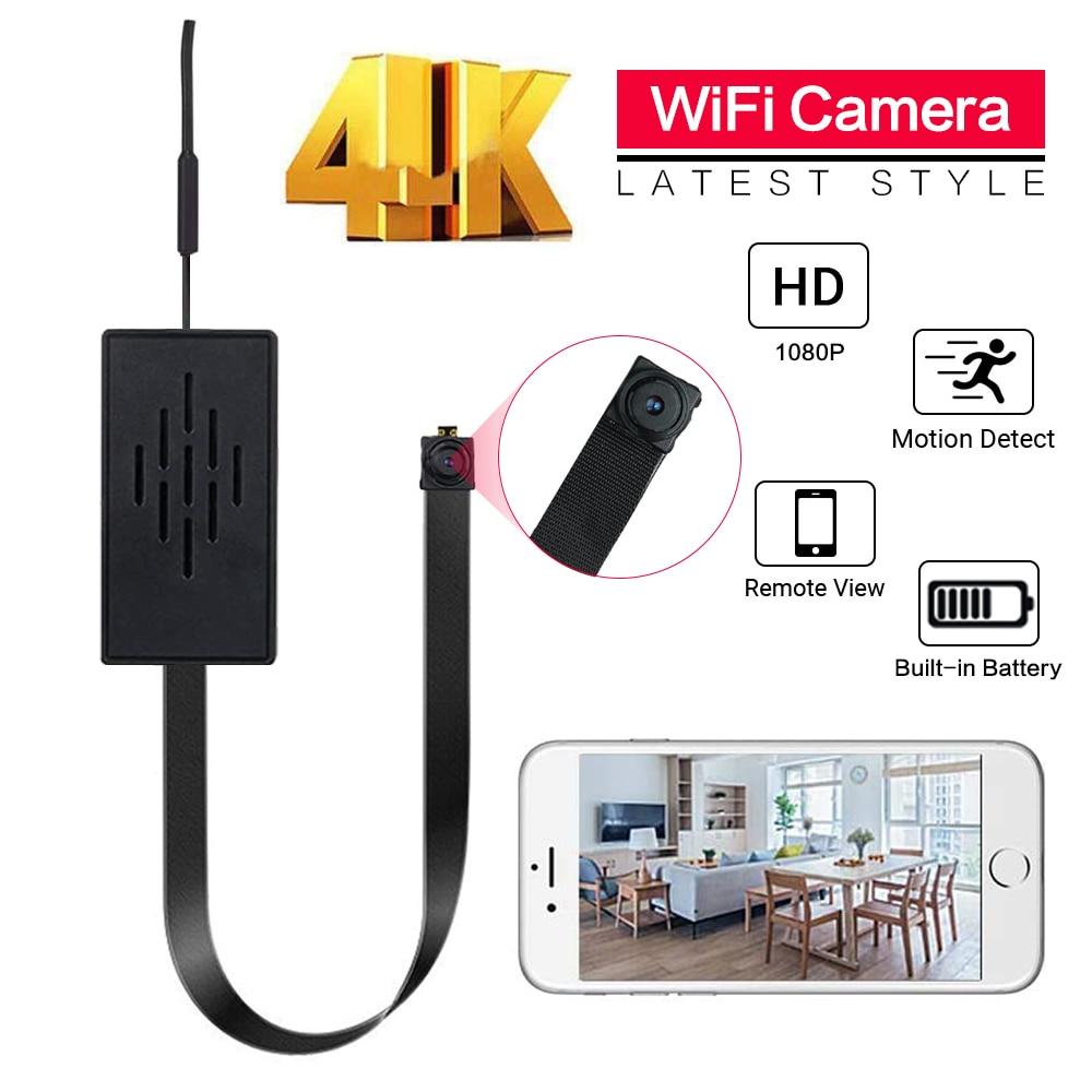 كاميرا مراقبة صغيرة مخفية لأمن المنزل ، وحدة كاميرا فيديو صغيرة مخفية لأمن المنزل مع جهاز تحكم عن بعد TF ، بطارية P2P