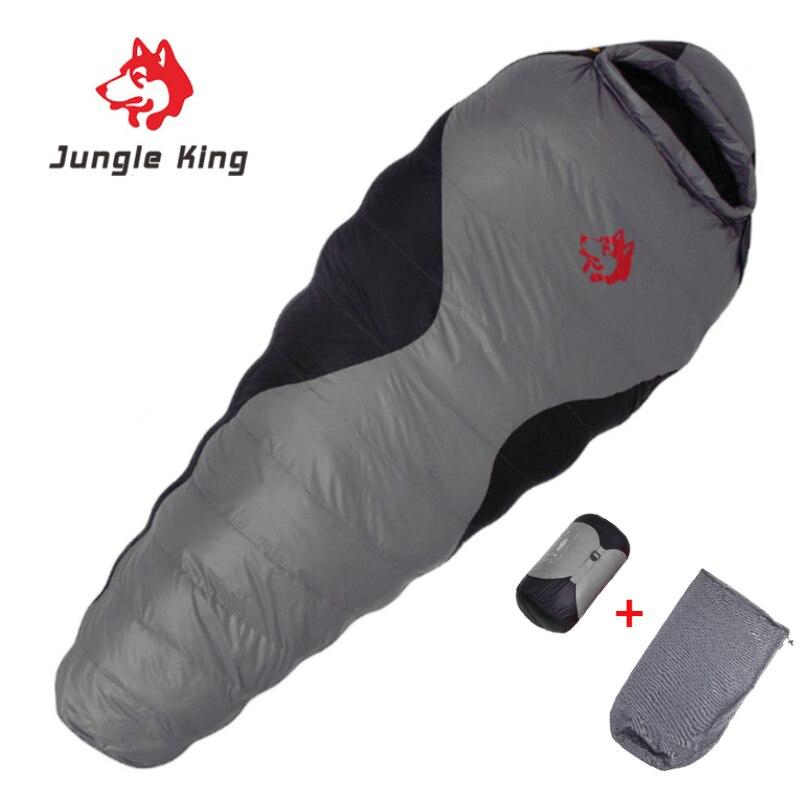 Jungle King Sleeping Bag 90% White Duck Down Mummy Camping Sleeping Bag Cold Winter Hiking Travel Camping Splicing Sleeping Bag