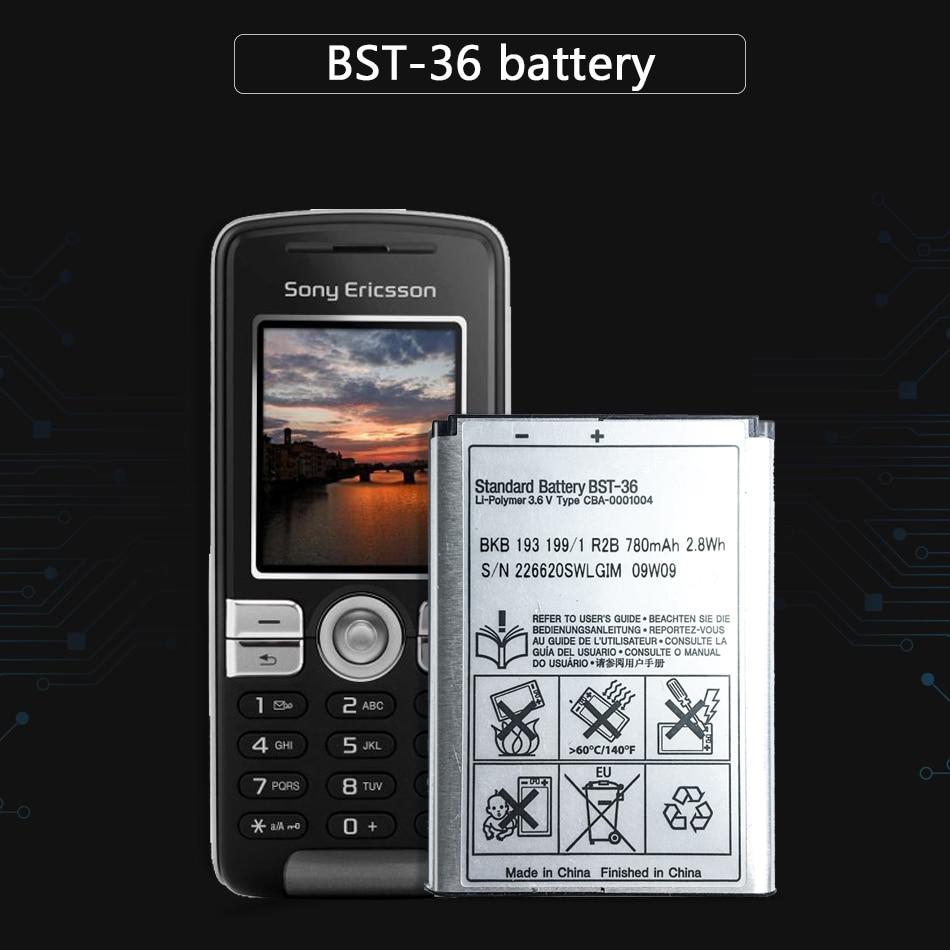 KiKiss 780mAh BST-36 batería para Sony Ericsson J300 J300C K510i Z550a Z550C Z550i Z558 K320 K310i K310 k310c W200 X0001