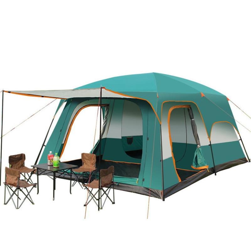 خيمة تخييم عائلية طبقات مزدوجة مقاوم للماء 4-8 شخص غرفتي نوم خيمة نوم واحدة