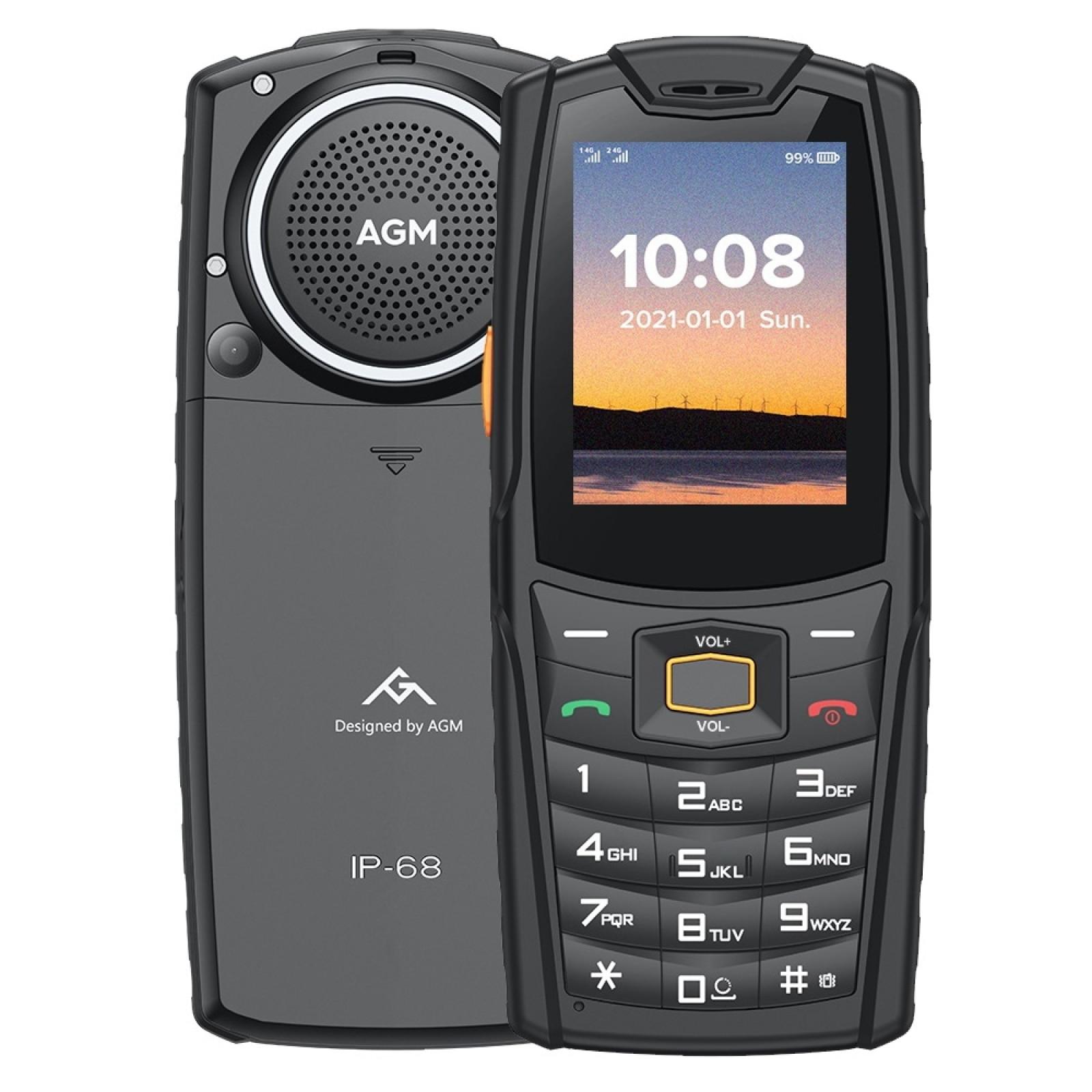 AGM M6 GSM Phone 2.4 Inch 4G Mobile IP68 Push-Button Cellphones Keypad Phone Speaker 2500mAh Rugged