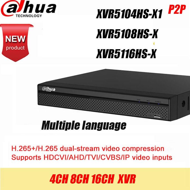 Dahua DVR XVR5108HS-X XVR5116HS-X 8ch 16ch до 6MP H.265S mart Поиск Цифровой видеорегистратор свяжитесь с продавцом со скидкой
