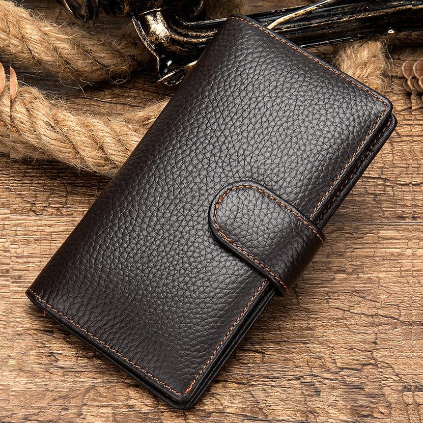 Cartera de cuero genuino para hombre... tarjetero de billetera de cuero para tarjetas de conductores... funda para pasaporte