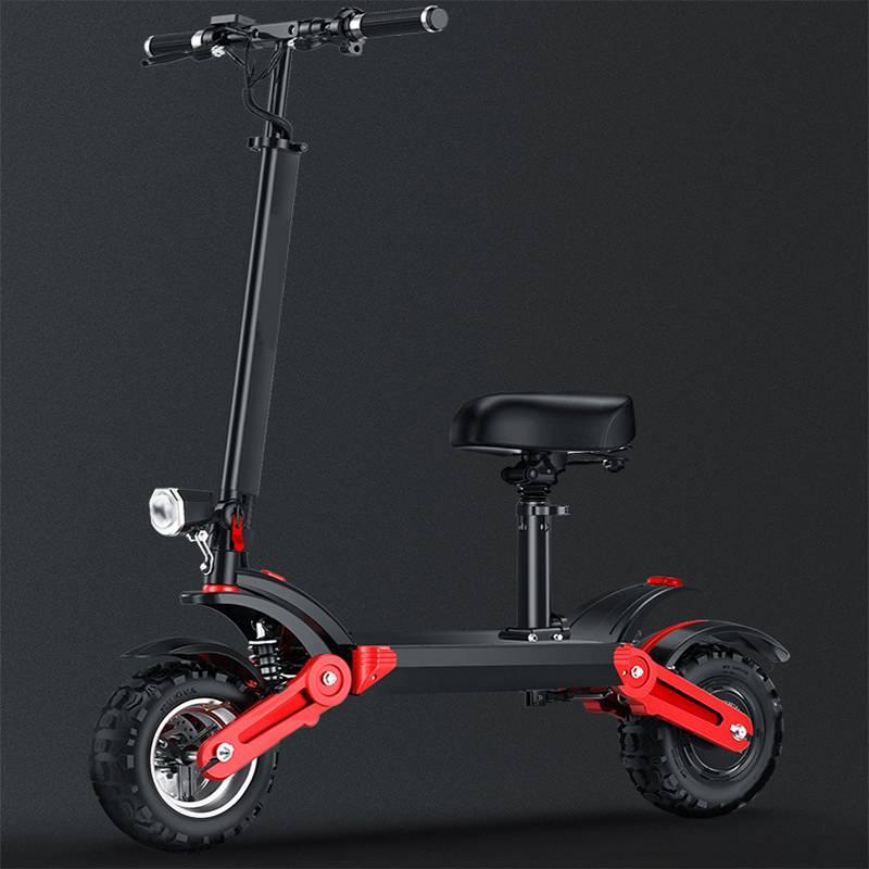 Scooter Eléctrico plegable M30 para adultos con asiento 48V 500W, Scooter Eléctrico todoterreno plegable de 12 pulgadas, velocidad máxima de 35 km/h, 150km