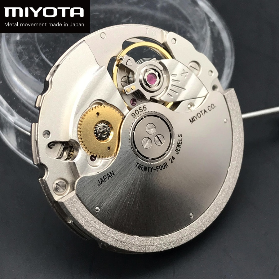 Japan Miyota 90S5 Accuracy Mechanical Automatic Watch Ultra-thin Self-Winding Wristwatches Replace Movement 24 Jewels Branded