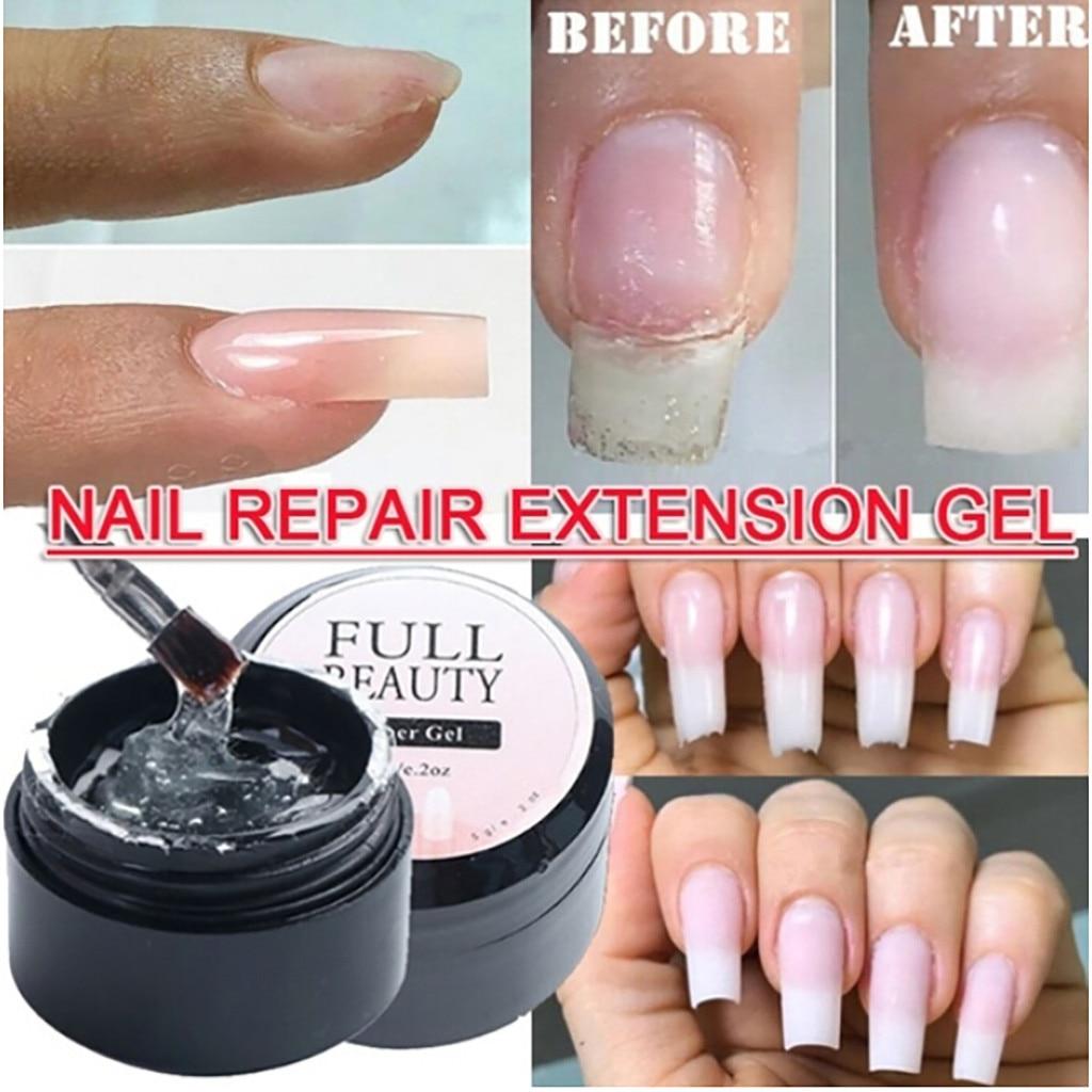 5ml Nail Fiber UV Gel Fiberglass Building Extension Gel Varnish Repair Broken Nails Gel Camouflage L
