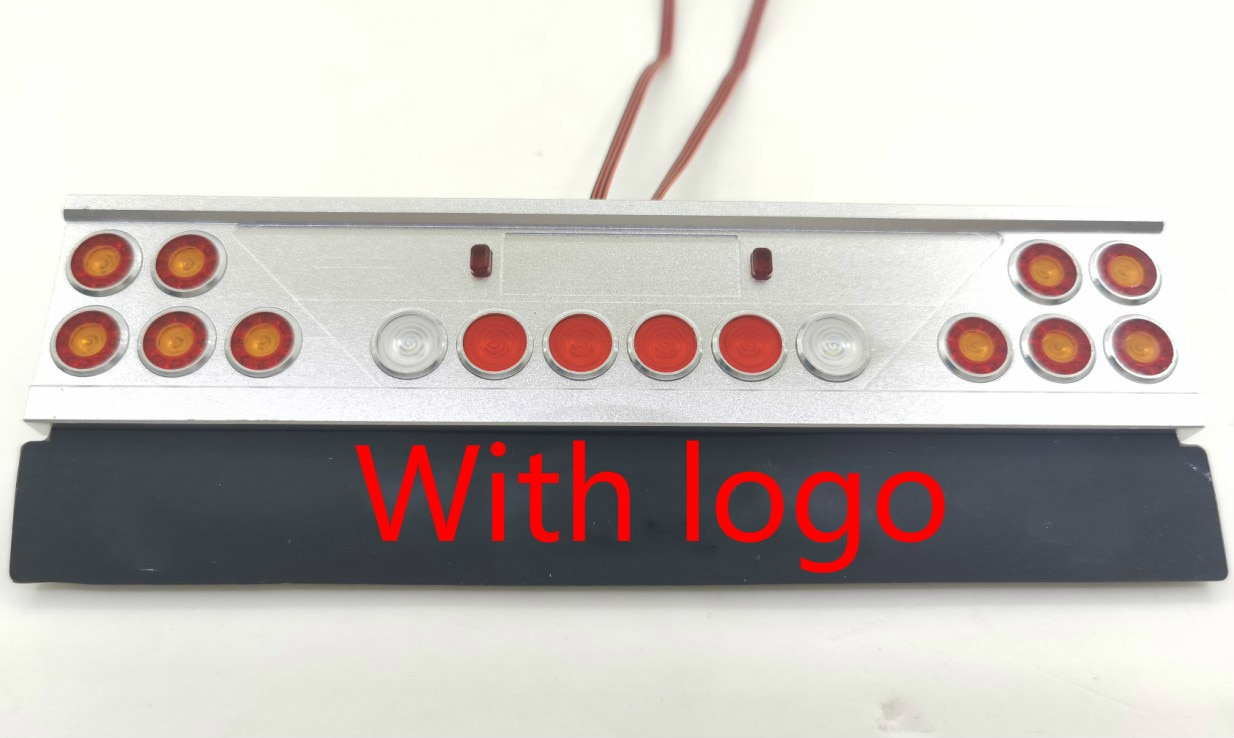 Metal LED Truck Taillight Assembly Angel Eyes PCB Light Rear lamp for 1/14 Tamiya RC Truck Car SCANIA AROCS MAN DIY Refit Parts enlarge