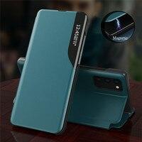 Кожаный чехол для Huawei P Smart 2021, Магнитный флип-чехол с подставкой для Y6P, Y7P 2020, P20, P30 Pro, P40 Lite, E, PSmart Z 2019