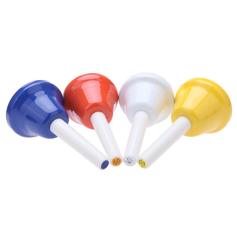 Handbell Hand Bell 8-Note Metal Colorful Kid Children Musical Toy Percussion Instrument enlarge