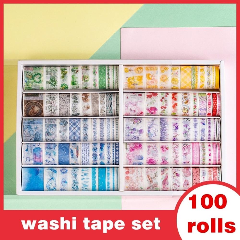 100 rolls washi tape set for Scrapbooking DIY Photos Albums Supplies