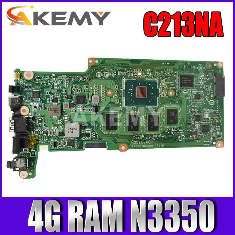 90NX01C0-R00012 C213NA 4G/N3350 32G-SSD اللوحة لابتوب ASUS C213NA C213N C213 اللوحة REV2.1 اللوحة