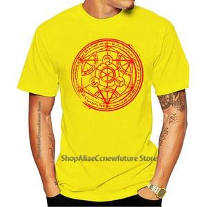Camiseta Feminina De Manga Curta Transmutation Circle Fullmetal Alchemist 2021 Leisure Fashion T-shirt 100% Cotton