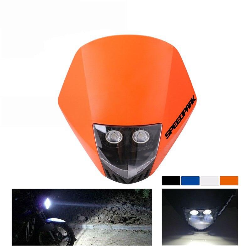 1 Uds faro LED para motocicleta faro delantero de luchador de calle faro delantero luces para motocicleta KTM Accesorios