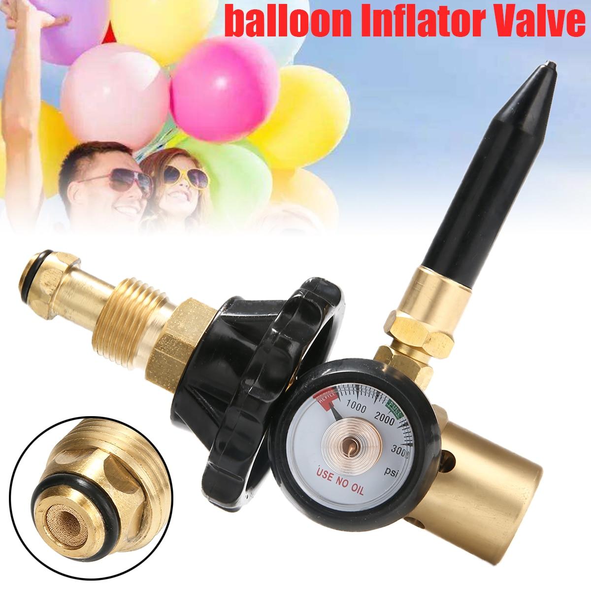 Globo helio de látex, inflador, regulador de flujo de aire con manómetro para válvulas de depósito G5/8, 3000PSI