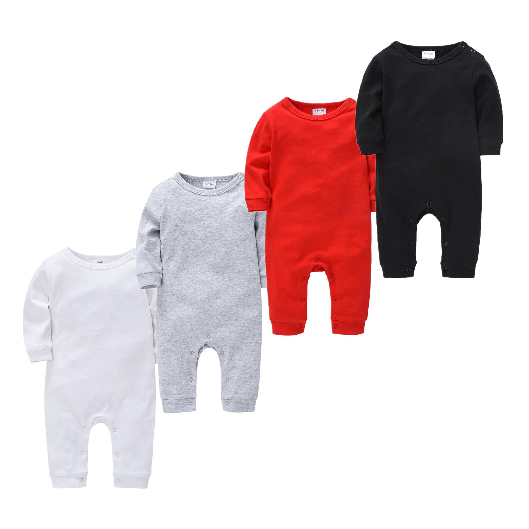Mono para Recién Nacido 0-18M, pijamas mamelucos para niños, Blanco sólido, ropa De bebé negra, pijamas infantiles De manga larga para niños y niñas