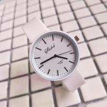 Fashion Kids Watch Simple Student Girl Candy Color Analog Round Dial Silicone Band Quartz Wrist Watc