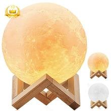 Hot Volle Mond Lampe 3D LED Nacht Moderne Boden Lampe Dimmbar Touch Control Helligkeit USB Lade Weiß Warmes Licht Mond lampe